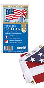 Annin Annin Flagmakers American US outdoor polyester Tough-Tex flag