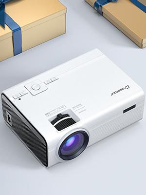 Crosstour Proyector, Mini Proyector Portátil Soporte HD