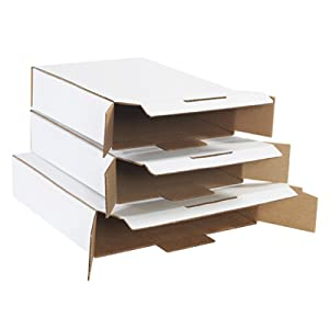 White Locking Side Loading Boxes Mailers No Tape