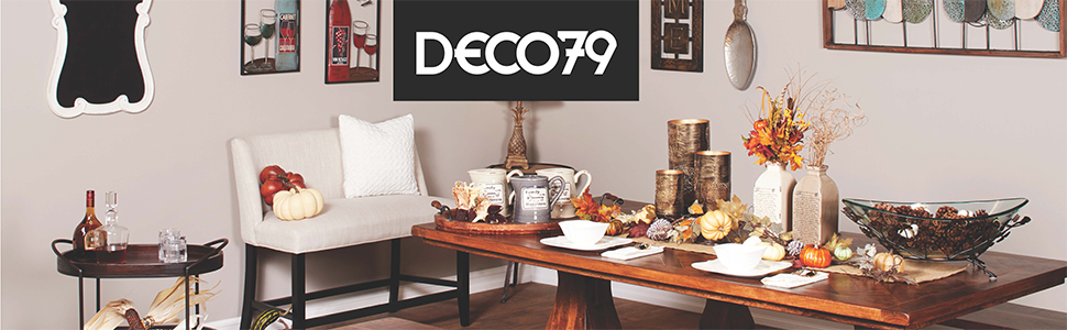Deco 79 Home Wall Art Farmhouse Decor Accent Furniture Wicker Basket Candle christmas decorations