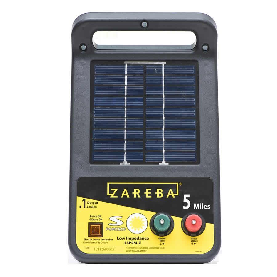 Amazon.com: Zareba esp5m-z 5-mile Cargador Solar de ...