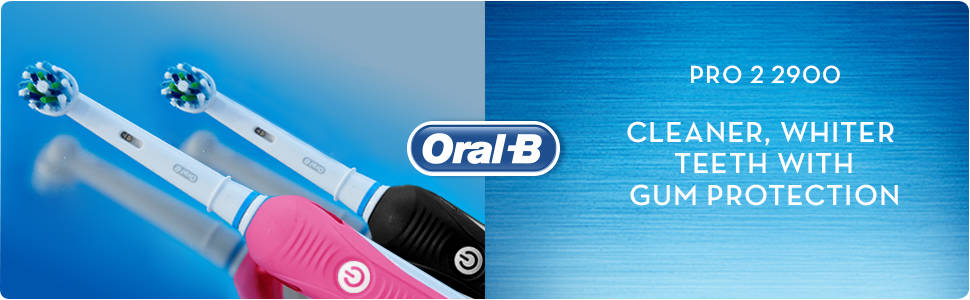 Oral-B Pro 2 2900 Set of 2 CrossAction Electric Toothbrushes ... 32bcc180a10df