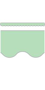 Mint Green Scalloped Border Trim