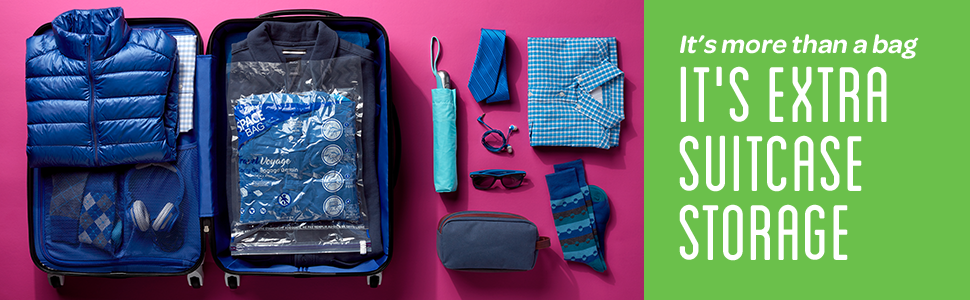 Ziploc - It's more than a bag, it's extra suitcase storage
