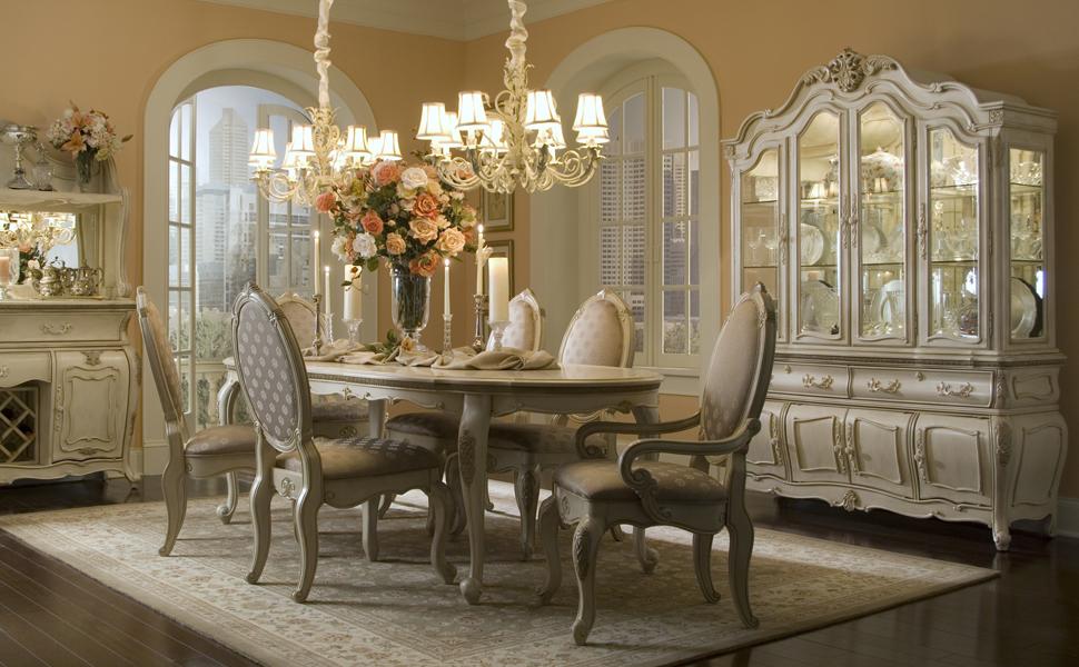 lavelle blanc, michael amini, AICO, champagne living room