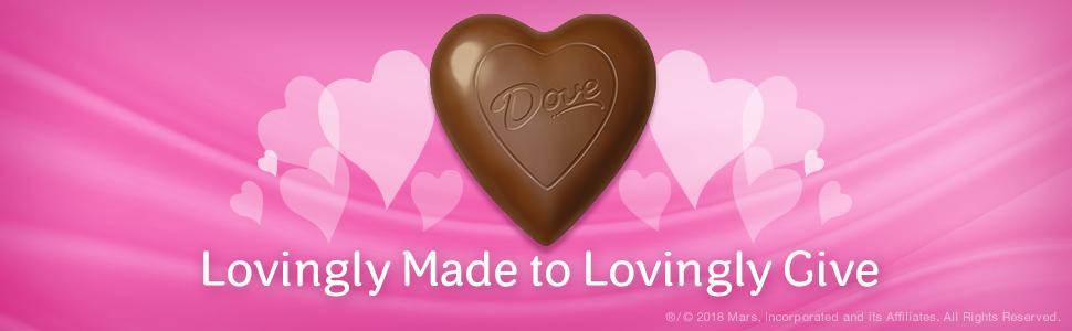 Amazon.com : DOVE Valentine\'s Milk Chocolate Solid Heart 4-Ounce ...