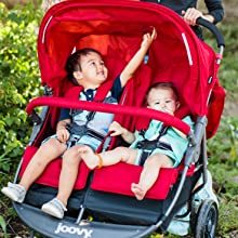 independent recline double stroller fit through doors comfortable stroller for toddlers