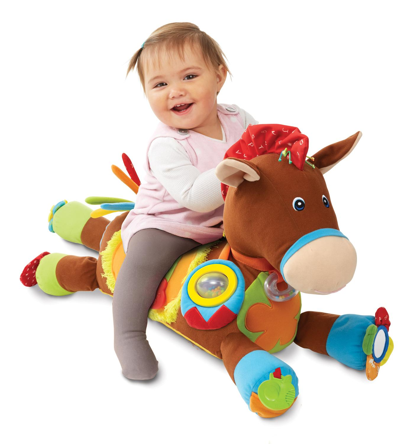 Toys For Stimulating Newborns : Amazon melissa doug giddy up and play baby activity