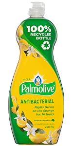 Palmolive Ultra Strength Antibacterial Dishwashing Liquid with Lemon Extracts