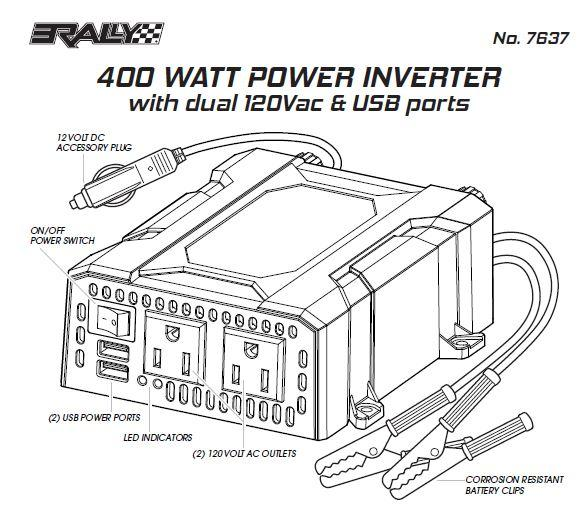 amazon com  rally marine grade 400w power inverter with