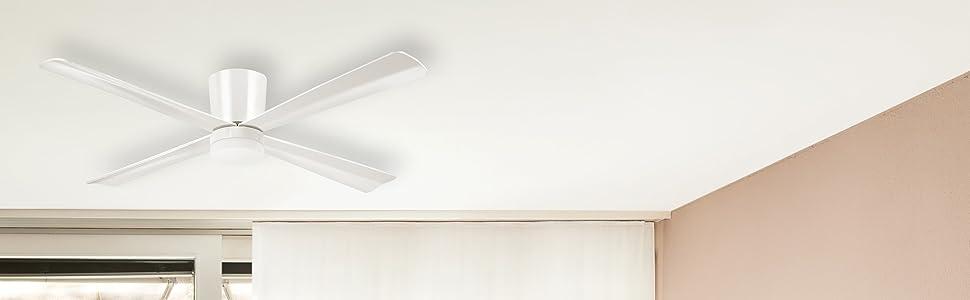 Sulion Formigal Ventilador de Techo, Blanco: Amazon.es: Iluminación