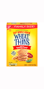 Wheat Thins Whole Grain Crackers Family Size