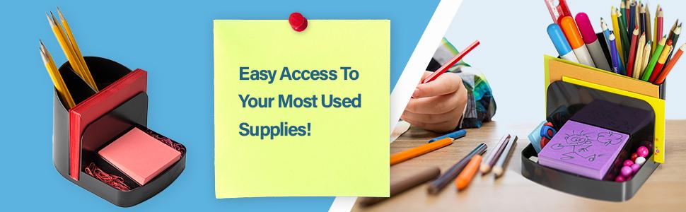 desk organizer, school supplies organizer, work supplies organizer, pen organizer, pencil organizer