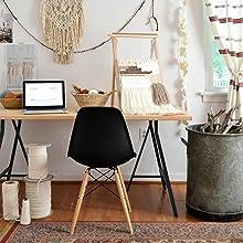 boho style, boho office, boho home decor, home decor, modern office