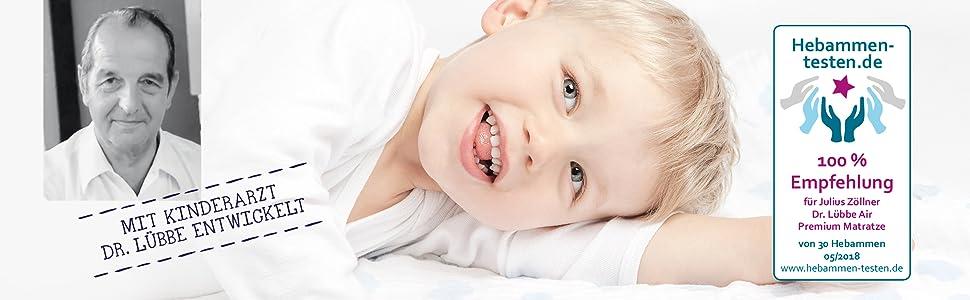 Dr. Lübbe Kinderarzt Hebammen testen