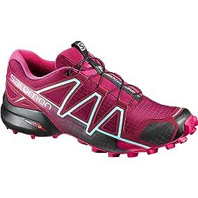 Speedcross 4 W, Zapatillas de Running Mujer, Multicolor (Quarry Acai/Fair Aqua), 42 2/3 EU Salomon