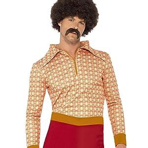 Smiffys 39427L - Disfraz de años 70s retro para hombre, color blanco, talla L