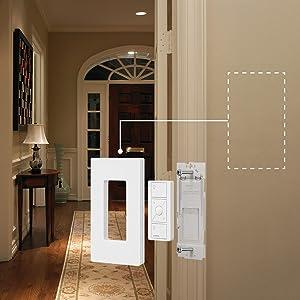 virtual 3-way light control, add a switch, dimmer switch, wall control, Caseta
