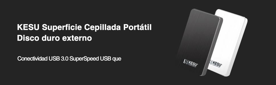 KESU Ultra Slim Disco Duro Externo Portátil 2.5