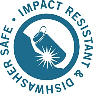 impact resistant, dishwasher safe