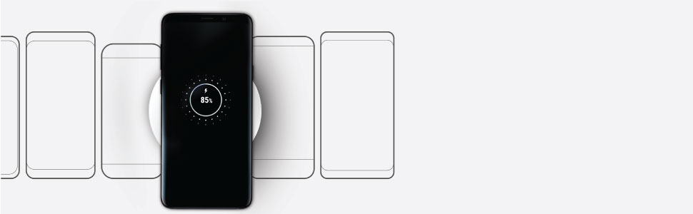 Wireless charging on Qi compatible phones