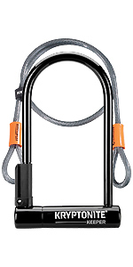 Kryptonite Fahrradschloss Keeper Ls 10 2x25 4cm Black 10 2 X 25 4 Cm 3500452 Sport Freizeit