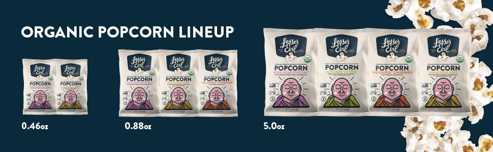 LesserEvil, Organic Popcorn, Coconut Oil
