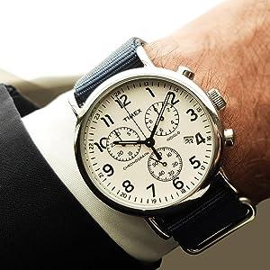 8e83e834d Amazon.com: Timex Unisex TW2P62400 Weekender Chrono Oversize Blue ...