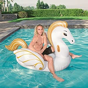 Luxury Pegaso Hinchable Bestway 231x150 cm: Amazon.es ...