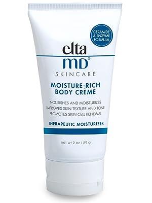 EltaMD Moisture rich body creme, body cream, body moisturizer with ceramides, travel size lotion