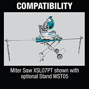 compatibility miter saw shown with stand WST05 optional