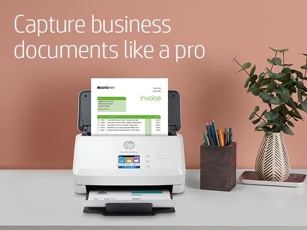 scanjet pro n4000 scanner capture business documents