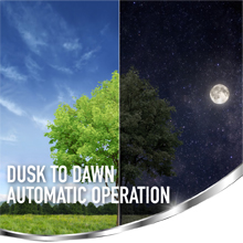 Automatic Dusk to Dawn Operation