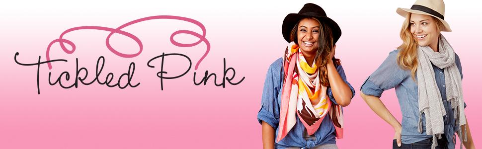 tickled pink scarves