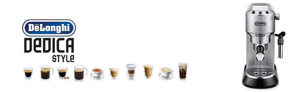 Dedica DeLonghi traditional coffee machines