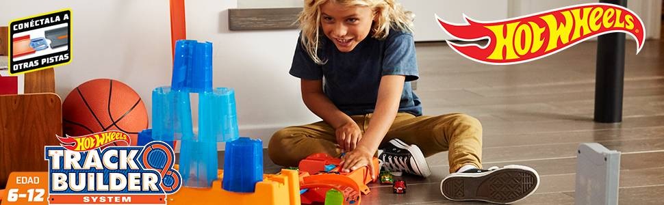 Hot Wheels - Supercaja de acrobacias, accesorios para pistas de coches de juguete (Mattel GCF91) , color/modelo surtido: Amazon.es: Juguetes y juegos