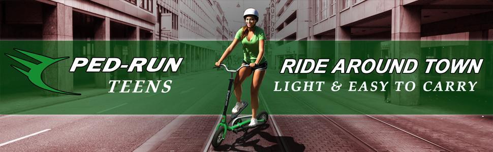 Amazon.com: Bike Rassine Ped-Run Teens Pedaleo Scooter ...