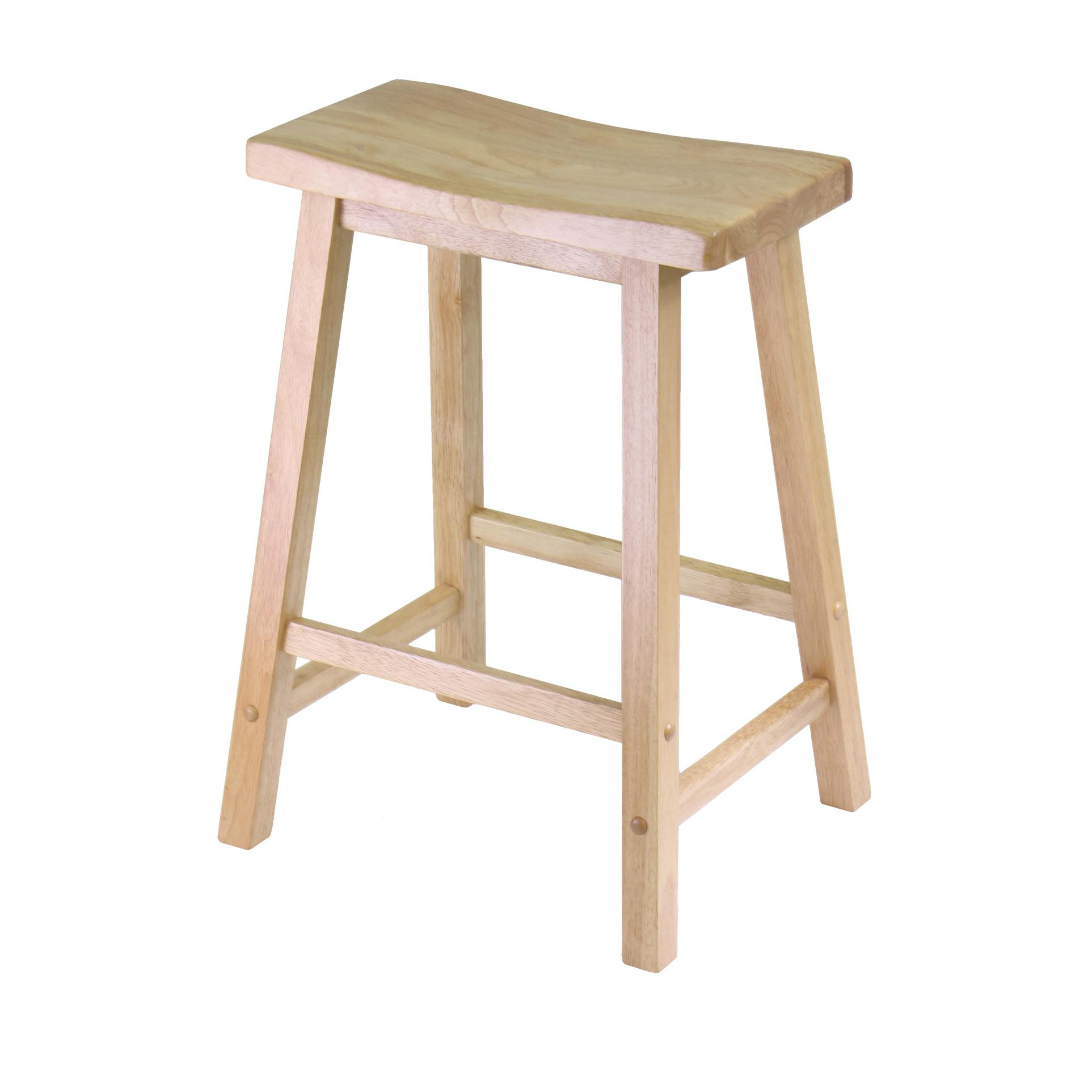 Winsome wood 24 saddle seat stool nat for Bar stools near me