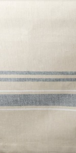 French Stripe Tabletop Collection Tablecloth in Taupe/Black
