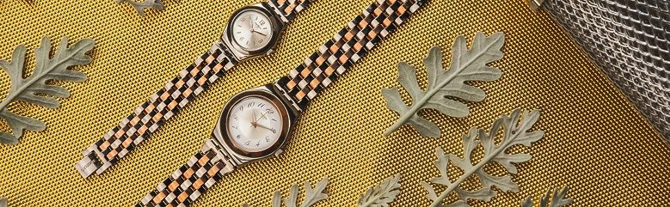 metal, swatch, watch, lady, irony