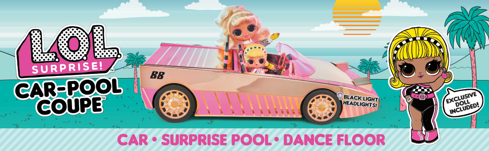 LOL Surprise Car Pool Coupe /& Dance Floor with Exclusive Doll BRAND NEW 2020