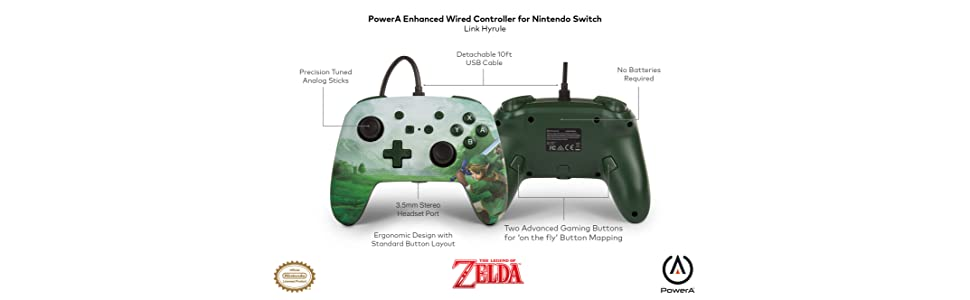 PowerA - Mando con cable Link Hyrule (Nintendo Switch): Amazon.es ...