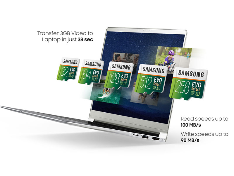 Record, play and transfer your 4K UHD videos with ultra-fast read & write speeds
