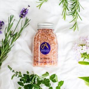Himalayan bath salt with Bergamot Chamomile Lemon Lavender Orange Clove Cedarwood Jasmine amyris
