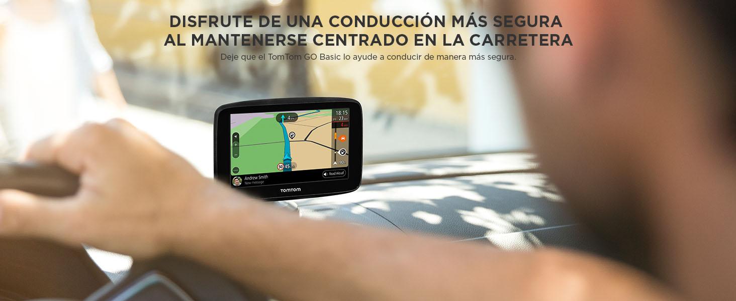 disfrute de una conduccion mas segura al mantenerse centrado en la carretera