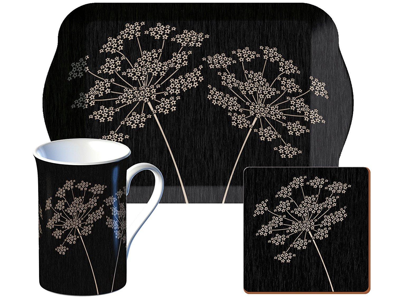 Tea Time Gift Set Mug Tray Coaster 3 Piece Set