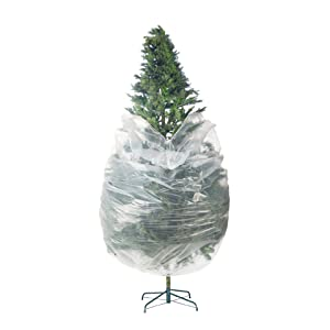 Elf Stor 83 Dt5025 Premium Christmas Poly Large Storage Bag 9 X 4 For 7 5 Trees Foot Clear