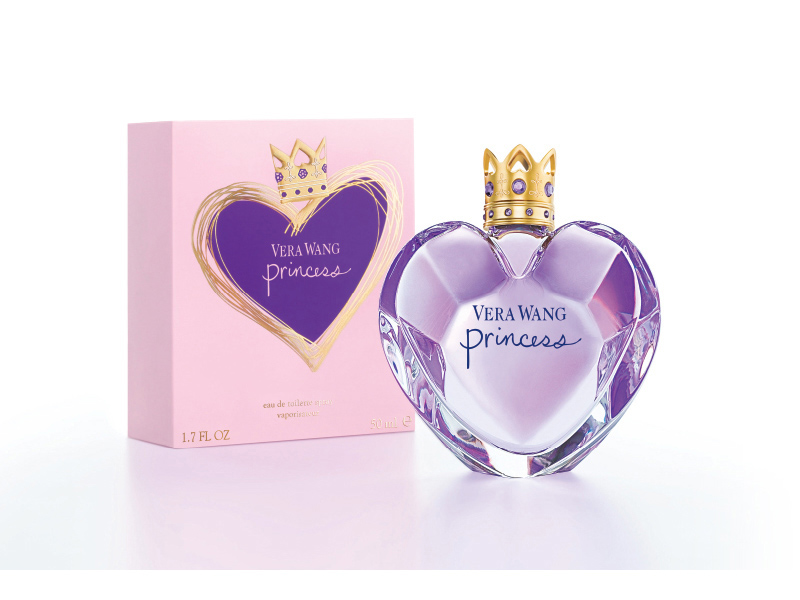 Vera Wang Princess EDT bottle next to the packaging