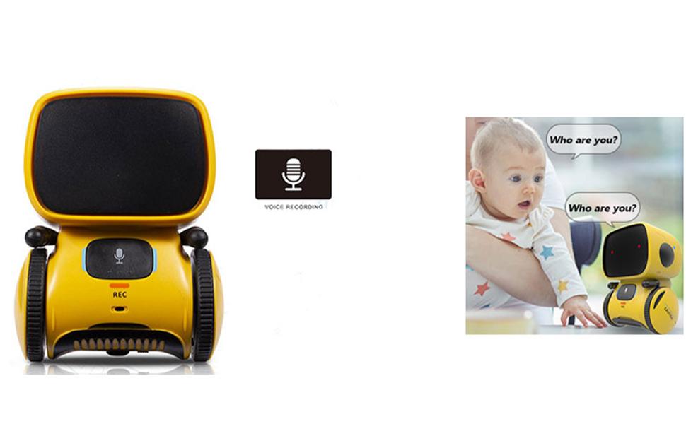 amarillo botones t/áctiles PNI PNI-ROBO1 unisex control por voz Robo One robot inteligente interactivo
