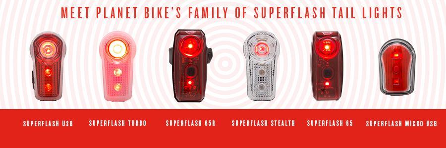 Planet Bike Superflash Turbo tail bicycle light 1 watt LED TOP RATED